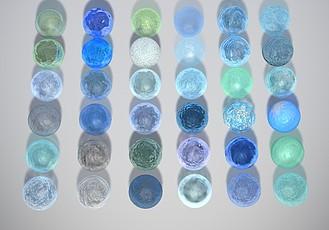 C4D材質預設 72種水液體透明玻璃材質