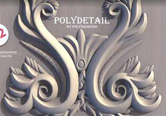3DS MAX装饰花纹雕刻插件 PolyDetail – Ornament Plugin for 3