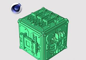 未來科幻多邊形城市預設C4D插件 Poly Greeble 1.01 for Cinema 4D R15-S22