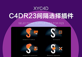 C4DR23間隔選擇插件vonc_selsu多種選擇點線面輔助插件Selections Suppletives for R23