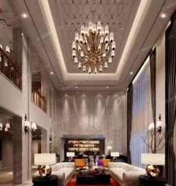 现代中式风格客厅卧室全景效果制作