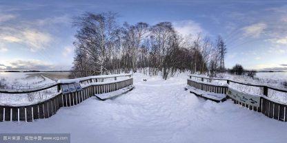 冬季雪景全景