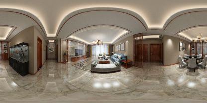新中式家裝VR全景效果圖