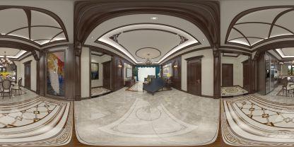 美式家裝VR全景效果圖
