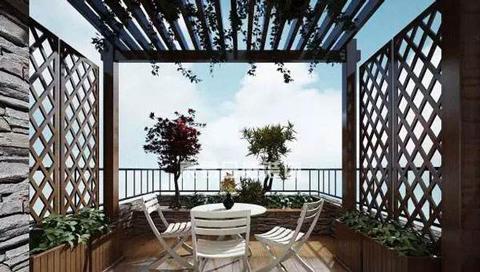 半室外阳台全景效果制作